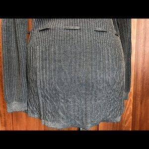 Daisy Fuentes Sweaters - Daisy Fuentes Gold and Black Tie Belt Cardigan